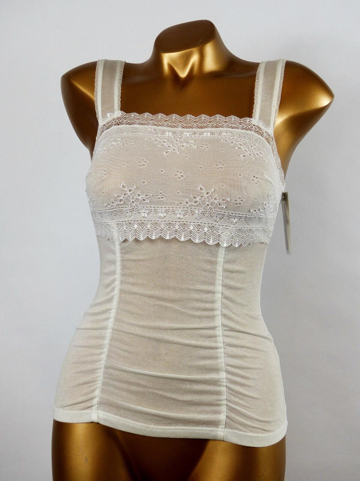 ARIANNE - size S - Haut Caraco Tulle Dentelle 5743, coloris   white
