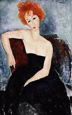 Oil painting amedeo modigliani - Red-headed Girl in Evening Dress no framed art