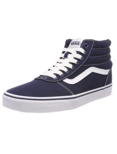 Lona Skater Casual Moderno Top Blanco Zapatos Zapatillas Vans Azul Hi Rayas Ward wxR0URqI4