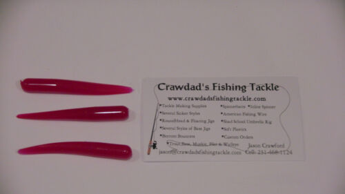 """Soft Plastic 20 Pack Crawdads /""""Nater Bug/'s Collection/"""" Blood Worm Grubs"""