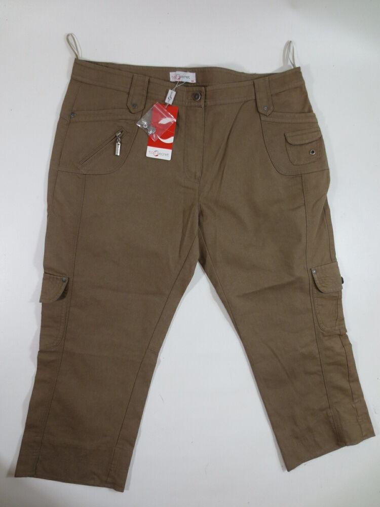 """7/8 Pantalon Stretch Top Secret Décontracté Pantalon 46 """"marron Clair"""" Neuf/c134"""