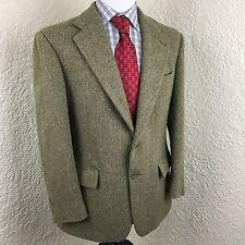 Polo Ralph Lauren Herringbone Green Tweed 2 Button Sport Coat Jacket Mens 41R