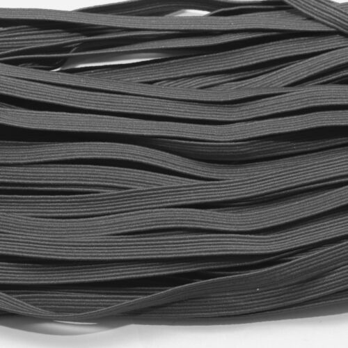 FLAT ELASTIC STRETCHY DARK GREY COLOUR ONE METRE OF SOFT 6 MM WIDE