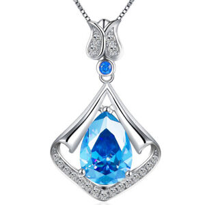 3-05-Ct-Mermaid-Drop-Created-Blue-Topaz-Birthstone-Sterling-Silver-Necklace