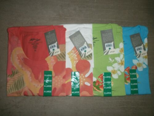 4 MATSON LINES LADIES FLORAL PRINT 100% SOFT COTTON TSHIRTS YOU GET ALL 4 SZ XL
