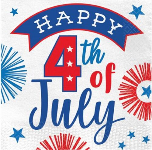 American USA July 4th Party Celebration Beverage Napkins Tableware Decoration
