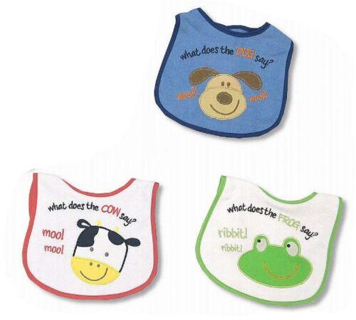 Wholesale Job Lot 12 x Animal Friends Baby Boys Bibs Bundle Gift