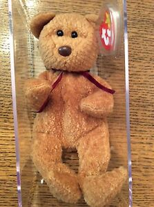 7b7a377ca2c Ty Beanie Baby 1996 CURLY BEAR with very rare collectible hang tag ...