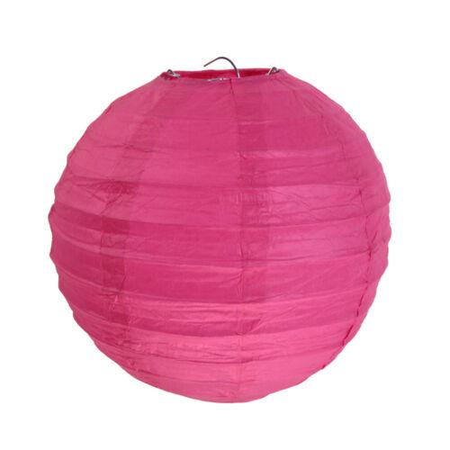 2 Stück Pink Laternen Papierlaternen Lampions Papierlampions rund 20 cm