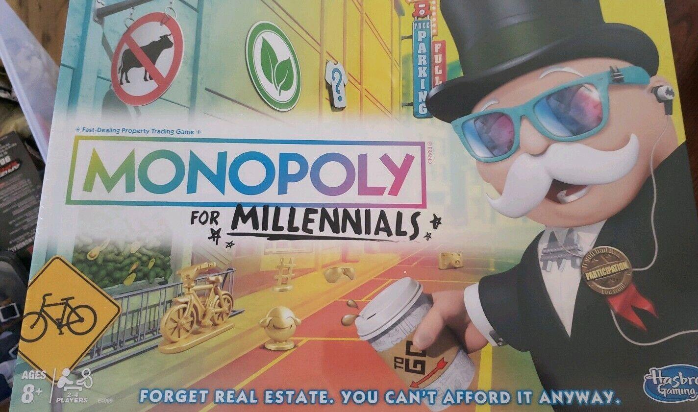 Monopoly For Millennials Millenials Milennials Board Game BINC9