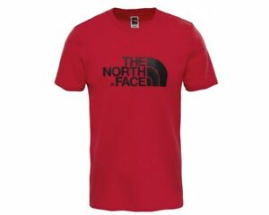 The-North-Face-T92TX3619-Crew-Neck-Mens-T-Shirt-Cardinal-Red