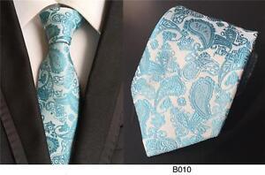 beau meilleur en ligne outlet à vendre Détails sur Turquoise Cravate et Argent Cachemire à Motifs Fait à la Main  100% Soie Mariage
