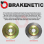 BRAKENETIC SPORT Cross DRILLED Brake Disc Rotors BSR77694 FRONT + REAR