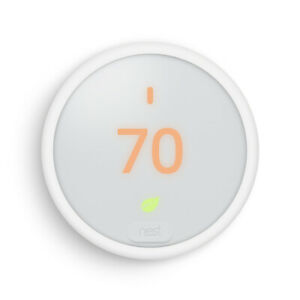 Google-Nest-Thermostat-E-T4000ES-Home-Away-Assist-with-LCD-Display-White