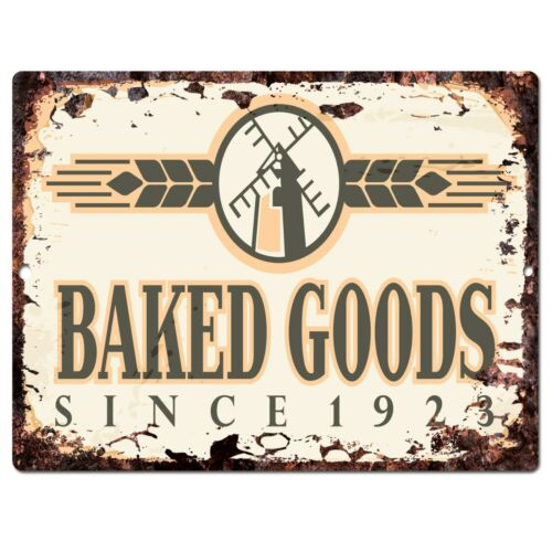 PP0290 Rust BAKED GOODS Sign Home Kitchen Store Shop Cafe Interior Decor Gift
