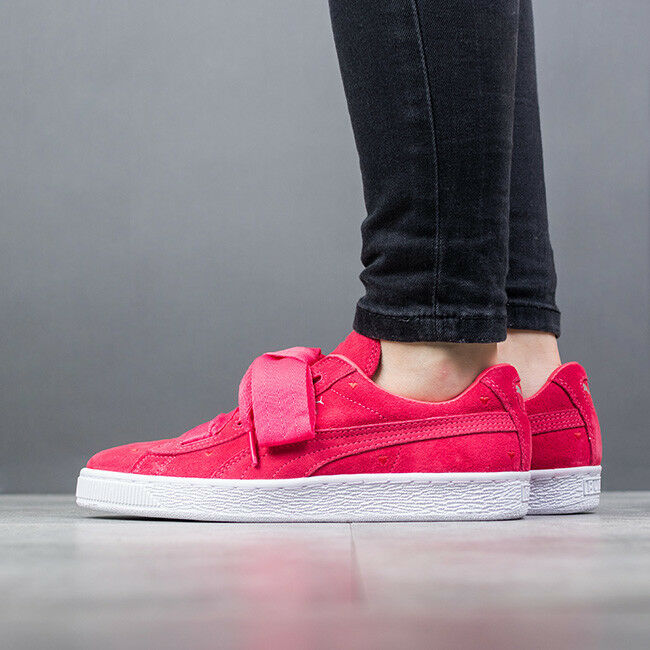 WOMEN'S JUNIOR SHOES SNEAKERS PUMA SUEDE HEART VALENTINE [365135 01]