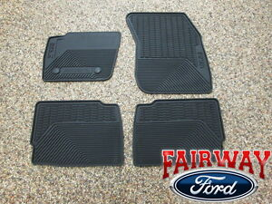 13-thru-16-MKZ-OEM-Genuine-Lincoln-Black-Rubber-All-Weather-Floor-Mat-Set-4-pc