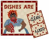 Mammy Dishwasher Magnet 3 (clean/dirty) Ship Free