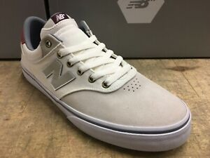 100% authentic 89d5c 478f5 Details about NEW BALANCE NUMERIC SKATE SHOES WHITE GREY RED SUEDE NM255GLD  SIZE 12