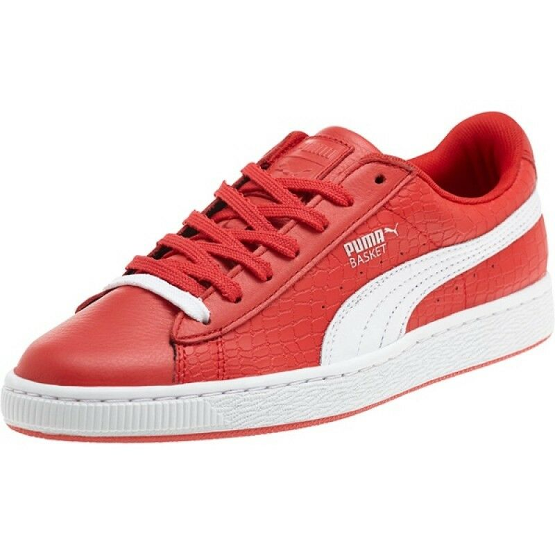Puma Basket Red Roses # 361700 01 Red Basket White Women Sz 6 - 8.5 ce428b
