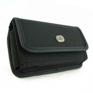 BLACK-RUGGED-CANVAS-SIDE-CASE-COVER-PROTECTIVE-POUCH-BELT-U6Q-for-SMARTPHONES