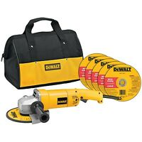 Dewalt Dw840k 7-inch Angle Grinder With Bag And Wheels Disks, Free Shipping,