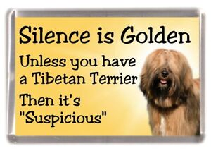 Tibetan-Terrier-Dog-Fridge-Magnet-034-Silence-is-Golden-034-by-Starprint