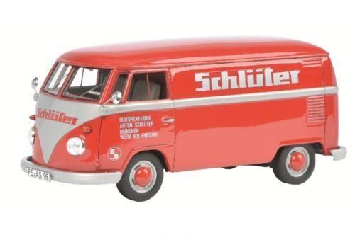 Schuco VW   Volkswagen T1  Schlüter  Kastenwagen red red 1 32 Art. 450892800