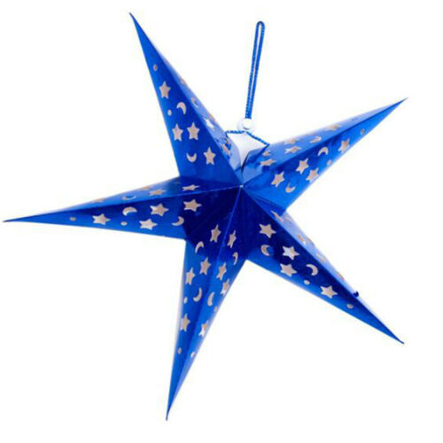 Star Light Xmas Tree Ornament Christmas Decro Stars Lantern Hanging Star