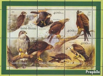 Guinea-bissau 1452-1457 Sheetlet Unmounted Mint Never Hinged 2001 Birds Nourishing The Kidneys Relieving Rheumatism Stamps Topical Stamps