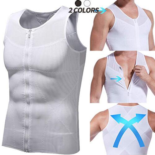 Mens Abdominal Belly Vest Body Slimming Shaper Underwear Waist Girdle Cami Tops