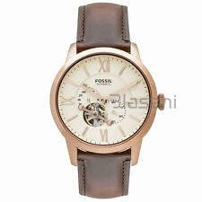 Fossil Original ME3105 Men's Townsman Automatic Dark Brown Leather Watch 44mm