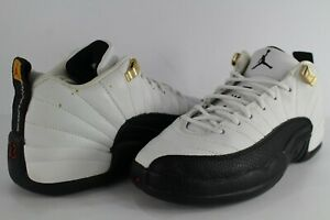 Details about Nike Air Jordan Retro 12 XII Low Taxi Black White Size 4.5 Youth 308305 101