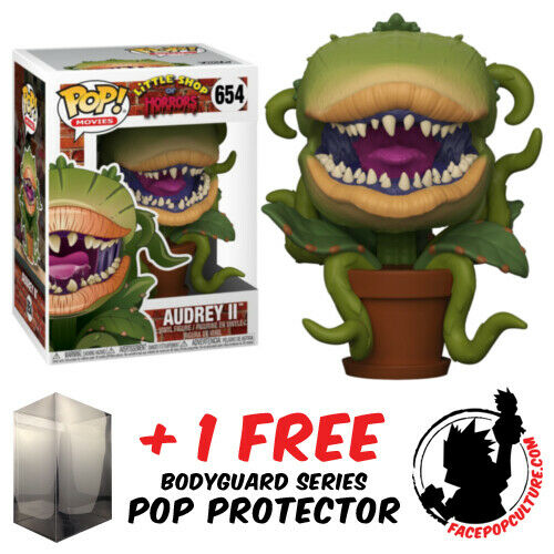 FUNKO POP LITTLE SHOP OF HORRORS AUDREY II #654 VINYL FIGURE + POP PROTECTOR