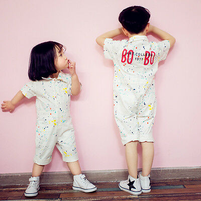 2017 Summer Bobo Baby Kids Choses Jumpsuits Girls Boys Cotton Clothes Clothing