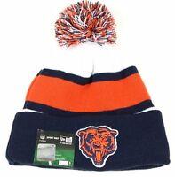 Nfl Chicago Bears Pom Knit Cuff Beanie Fleece Inner Winter Skull Cap Hat Onesize