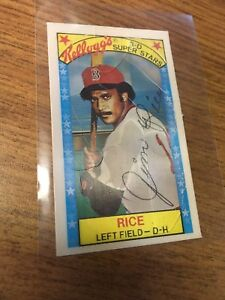 Details About Kelloggs 1979 Jim Rice 3d Superstars Baseball Card 15 Xograph Boston Red Sox