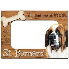St. Bernard 3-D Wood Photo Frame