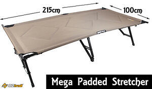 OZTRAIL-MEGA-PADDED-STRETCHER-215x100cm-Steel-Camp-Bed-Camping-Mat