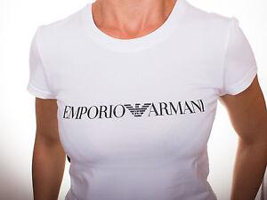 emporio armani women 39 s white t shirt size s m l ebay. Black Bedroom Furniture Sets. Home Design Ideas
