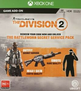 Details about The Division 2-The Battlesworn Secret Service Pack DLC  Exclusive Bonus Xbox One
