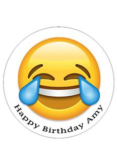 Image Is Loading EMOJI PERSONALISED BIRTHDAY CAKE TOPPER DECORATION 8 034