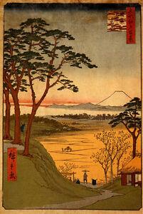 Wisteria Viewing 15x22 Ltd Edition Japanese Print Kiyonaga Asian Art Japan
