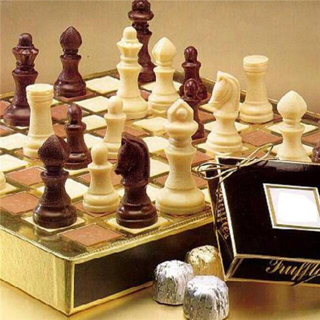 Gold Silicone Chess Pieces