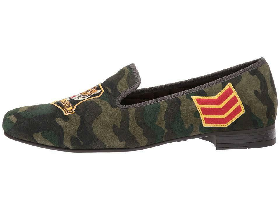 Polo Ralph Lauren Mens Leather Willard Camo Tiger Suede Leather Mens Slipper Driver Loafer c3ec30
