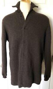 Armani-Collezioni-Size-Medium-Large-Snap-Front-Sweater-Jacket-Brown-Reg-890