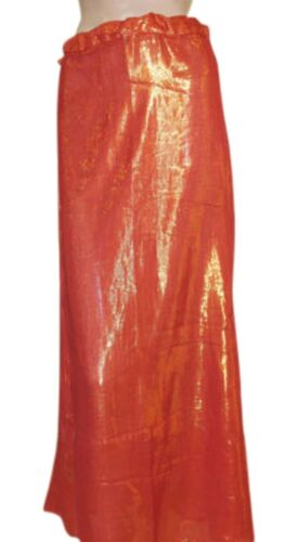 Marron  shimmer Indian saree Petticoat Underskirt belly dancing Lehanga slip