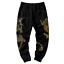 Chic Mens Chinese Dragon Printed Long Casual Pants Sports Loose Cotton Trousers