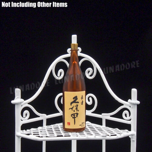 1:12 Dollhouse White Corner Wine Rack Furniture Miniature Decor Gift Collection