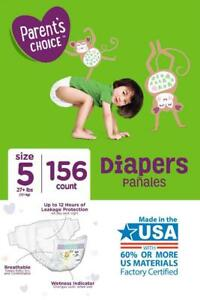 Parents Choice Diapers Size 5 27 Lbs 156 Count Ebay